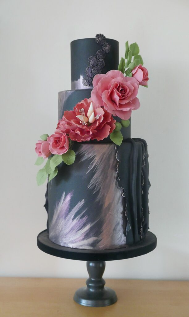 artisan cake maker - black wedding cake